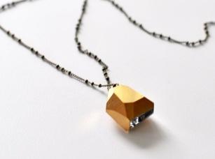 Anthem - Vintage Gold Crystal Nugget Necklace