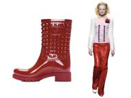 Red Vinyl Valentino x Sonia Rykiel