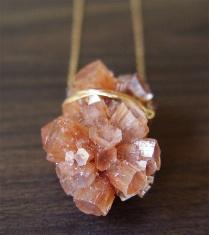 Frieda Sophie - Orange Aragonite Gold Necklace