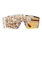 `The Fame' crystal sunglasses, Bleu Dame