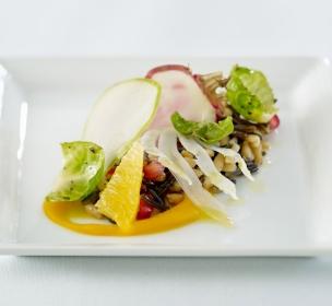 Butternut Squash Faro Rice Salad - Andrea Bricco