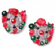 Cartier Collection - Pair of «Tutti Frutti» clip broches