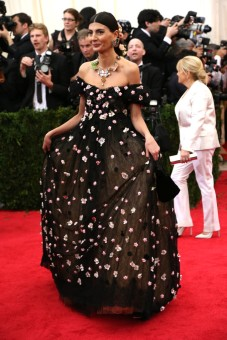 Giovanna Battaglia in Dolce&Gabbana