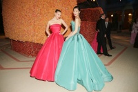 Arizona Muse and Liu Wen in Zac Posen Photo: David X Prutting/BFAnyc.com